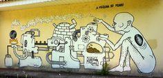 """the world's machine"" - Maringá, Brazil - 2014  #graffiti #streetart"