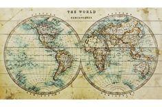 world map - Google Search Wooden Map, Future Travel, Wood Print, Beautiful World, Vintage World Maps, Classic, Prints, Google Search, 19th Century