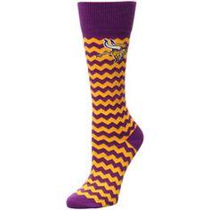 Women's Minnesota Vikings For Bare Feet Chevron Socks