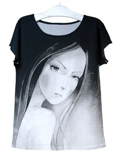JULIA   Szept M www.szeptm.pl #watercolor #blouse #face #portrait #woman #clotches