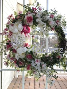 Flower wreath, spring wreaths for front door, summer wreath, everyday flower wreath, wreath with us - Products - # everyday wreath # Spring wr. Spring Door Wreaths, Deco Mesh Wreaths, Easter Wreaths, Summer Wreath, Holiday Wreaths, Floral Wreaths, Yarn Wreaths, Burlap Wreaths, Ribbon Wreaths