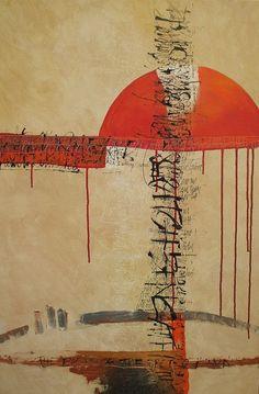 "dailyartjournal:    Hilary Adams, ""Under the Sun"", mixed media on canvas"