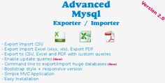 Advanced Mysql Exporter/Importer (Database Abstractions)