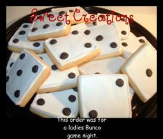 Sweet Creations Cookies: Bunco. Idea only. Product does not ship. Take to local bakery