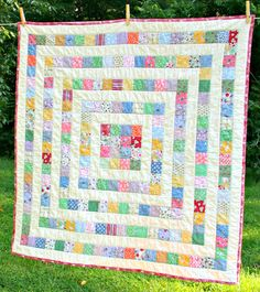 Patchwork Quilt Baby Toddler Lap  Growing Squares by LoveTheBaby, $150.00
