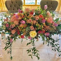 A very beautiful ceremony table decoration at from Easter weekend. The tulips really did set off the textured design 💝💝💝 . Colshaw Hall, Ceremony Decorations, Table Decorations, Easter Weekend, Stoke On Trent, Wedding Season, Wedding Bells, Wedding Designs, Weddingideas