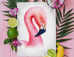 """Check out new work on my @Behance portfolio: """"Flamingo Watercolor"""" http://be.net/gallery/58941735/Flamingo-Watercolor"""