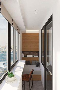 Фотография: Балкон в стиле Современный, Квартира, Проект недели, Москва, Geometrium, ЖК «Водный», 2 комнаты, 60-90 метров – фото на InMyRoom.ru