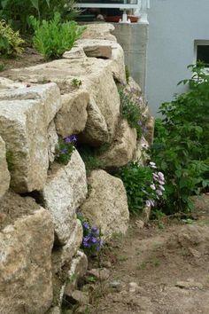 retenue en bloc de pierre