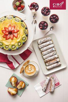 Summer Menu - Crostata Di Frutta, Panna Cotta and Cannoli Siciliani