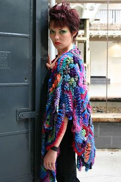 Freeform Knit & Crochet Shawl by freeform by prudence, via Flickr