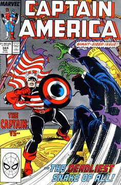 Captain America # 344 by Ron Frenz & Al Milgrom