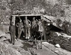 Hard Working American Coal Miners West Virginia Sand Lick Operation 1908 Photo