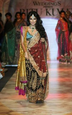 Chitrangada in a lehenga by Ritu Kumar