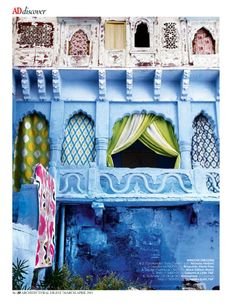 These images feature the famous state of Rajasthan. Its buildings are all painted shades of brilliant blues. You will also see brilliant shades of pinks, indigos and emeralds.