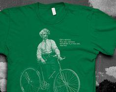 Hey, I found this really awesome Etsy listing at https://www.etsy.com/listing/159808283/mark-twain-bike-quote-tshirt-mens