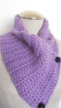 Crochet Cowl in light purple radiant orchid by needlepointnmore,