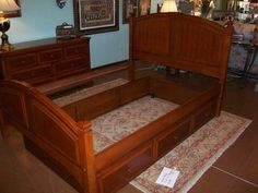 double bed with roll out twin trundle   Designed for Change Augusta, Georgia   Consignment Furniture Augusta   Consignment Shops Augusta   Home Decor Augusta