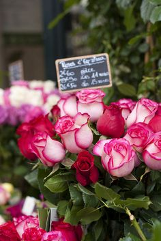 #flower market in #paris