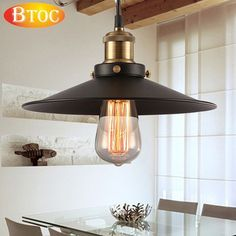 Vintage Style Industrial wind pendant light Vintage Industrial Lighting American Country Lamps for Living room restaurant lamp