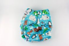 Christmas Cloth Diaper Cover  One Size Diaper Cover  by BICKLEBEAR
