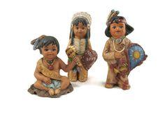 Set of 3 Ceramic Calendar Indians January by GrapeVineCeramicsGft, $45.00