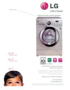 Nuggets de Mercadeo: Lavadoras LG: 10 años de garantía como diferencial