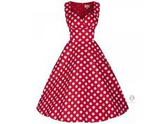 Lindy bop retro šaty nesrmtelného střihu a s puntíkatým vzorem nikdy nevyjdou z módy
