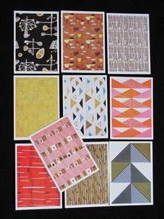 Lucienne Day Art Cards Postcards vintage fabric textile Calyx Heals Cards | eBay