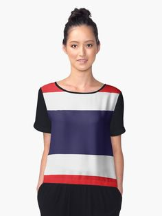 ' Red & White Classic Stripe' A-Line Dress by PageDesigns Stripes Design, Chiffon Tops, Athletic Tank Tops, Fitness Models, Street Wear, Shirt Dress, T Shirts For Women, How To Wear, Thailand Flag