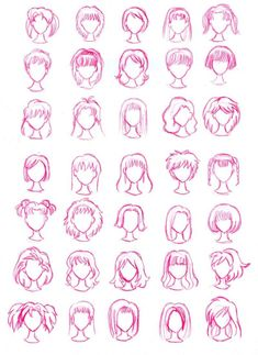 Top Tips, Tricks, And Methods For The Perfect drawing hair Manga Drawing, Drawing Tips, Drawing Reference, Drawing Sketches, Drawing Hair, Cartoon Drawings, Cool Drawings, Pelo Anime, Cartoon Hair