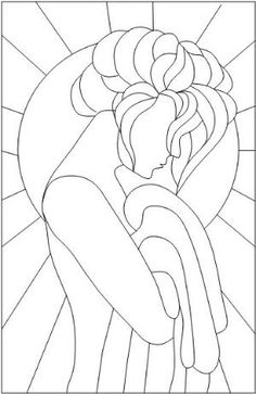 Stained Glass Patterns for FREE glass pattern 975 Lady.jpg – Wallie Hammer Stained Glass Patterns for FREE glass pattern 975 Lady.jpg Stained Glass Patterns for FREE glass pattern 975 Lady. Stained Glass Patterns Free, Stained Glass Quilt, Faux Stained Glass, Stained Glass Designs, Stained Glass Projects, Stained Glass Windows, Free Mosaic Patterns, Glass Painting Patterns, Mosaic Art