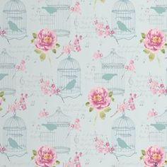 Alice Wallpaper - Pink & Teal