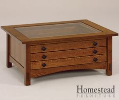 Springhill Glass Top Coffee Table by Homestead Furniture made in Amish Country.
