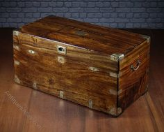 19th.c. Military Officer's Campaign Chest C.1880. - Antiques Atlas