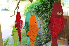 tuto / poisson / volant / jardin / decoration / enfant