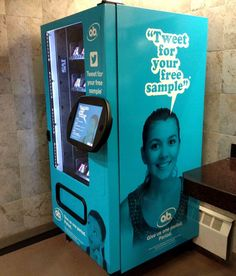 Top 55 Social Media Ideas in December #35 Tampon Vending Machines O.B. is Appealing to Potential New Customers Candidly