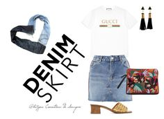 """""""Sem título #114"""" by kety-de-jesus ❤ liked on Polyvore featuring Bottega Veneta, Gucci, Topshop and Therapy"""