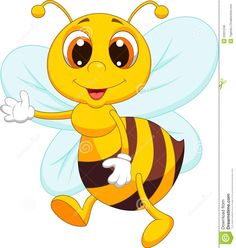 Cute cartoon bee and speech bubble with heart. Description from dreamstime.com. I searched for this on bing.com/images