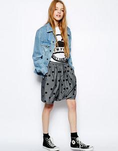 Asos White Choocolate Polka Dot Skater Shorts. I really, really, REALLY love these.