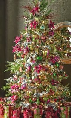 Christmas Tree with Pink