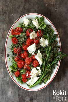 Kokit ja Potit -ruokablogi: Paahdettu broccoliini-fetasalaatti