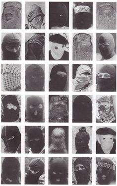 Terrorists (1970s?) with masks.