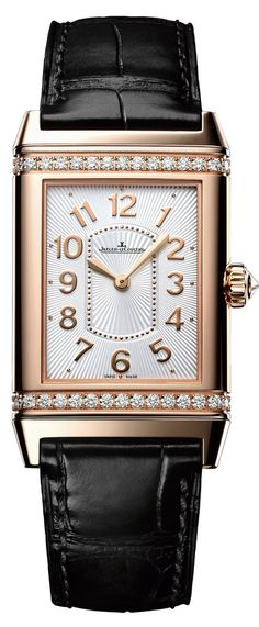 Jaeger LeCoultre Watch Grande Reverso Lady  Ultra Thin #bezel-diamond #bracelet-strap-alligator #brand-jaeger-lecoultre #case-depth-7-2mm #case-material-pink-rose-gold #case-width-24-x-39mm #delivery-timescale-4-7-days #dial-colour-silver #gender-ladies #luxury #movement-manual #official-stockist-for-jaeger-lecoultre-watches #packaging-jaeger-lecoultre-watch-packaging #style-dress #subcat-reverso #supplier-model-no-q3202421 #warranty-jaeger-lecoultre-official-2-year-guarantee…