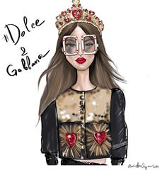 Dolce & Gabbana @mariettaosyan_illustration| Be Inspirational ❥|Mz. Manerz: Being well dressed is a beautiful form of confidence, happiness & politeness