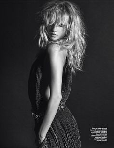 darling: natasha poly by mario sorrenti for vogue paris march 2014 textured waves #blonde