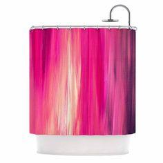 Kess InHouse Ebi Emporium Irradiated Fuchsia Magenta Pink Shower Curtain