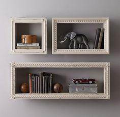 Hand-Carved Display Shelf  - Taupe rhkids