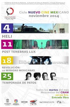 Nuevo Cine Mexicano en Zamora en Noviembre te ofrece www.felipevelardelarevista.com