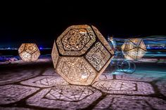 HYBYCOZO, burning man, art, design, sacred geometry, interior design, patterns, islamic patterns, geometric patterns, sculpture, installation art, hitchhiker's guide to the galaxy, douglas adams, math art, the hyperspace bypass construction zone, zomes, structures, garden: